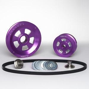 MST V-Belt Pulley Kit - Renegade - Purple