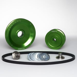 MST V-Belt Pulley Kit - Solid - Kelly Green
